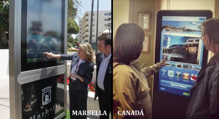 Información turística en cartelería Digital
