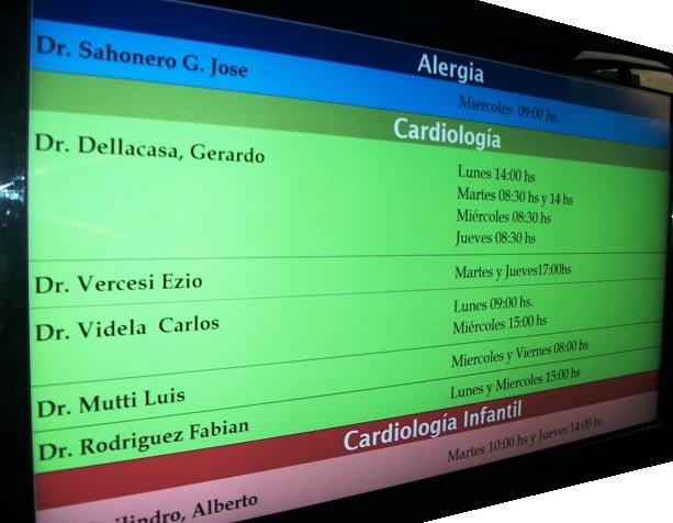 Hospital Dr Duhau – Nueva cartelera digital